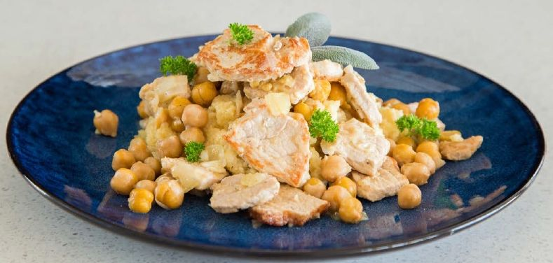 Pork with Couscous and Chickpeas