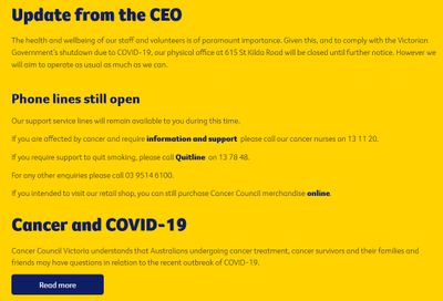 Cancer Council Victoria